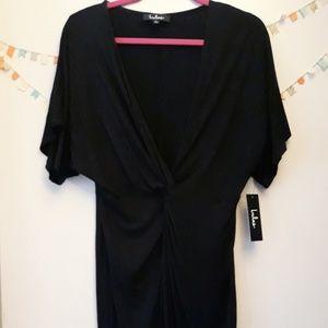 Lulu's Black Mini Cocktail Dress